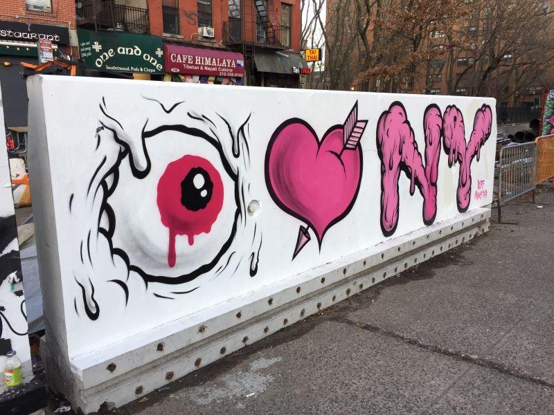 Buff Monster I Love New York Graffiti Art Mural Newyorkcityfeelings