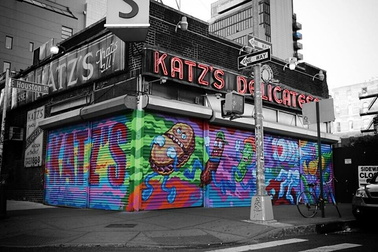 100th Gate at Katz's Deli / Artwork by @LamourSupreme