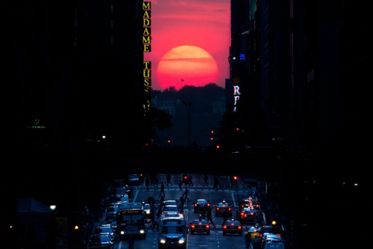 manhattanhenge by John Minchillo