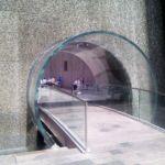 New York's Glass Waterfall Tunnel