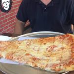 At 2ft long and over 5 lbs the Super Slice at Pizza Barn in Yonkers NY