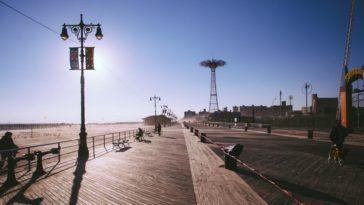 Coney Island boardwalk by Pavel Bendov