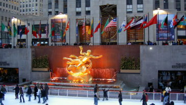 The Rink at Rockefeller Center is the classic NYC ice skating experience.