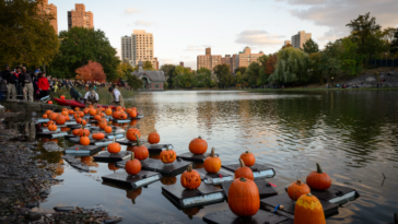 central Park Halloween Parade and Pumpkin Flotilla
