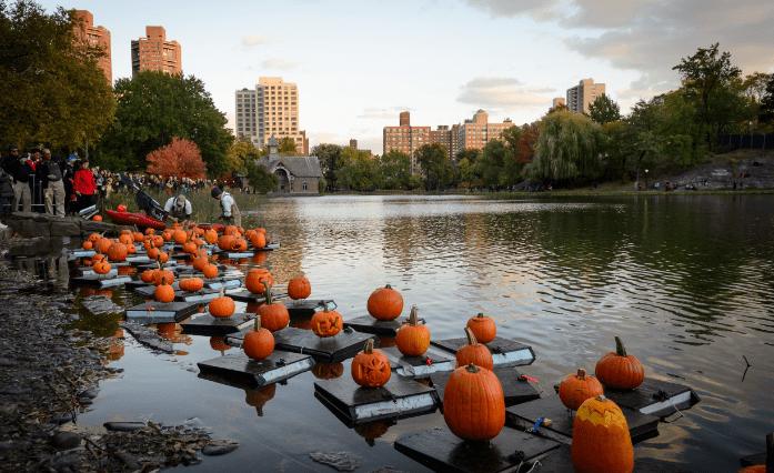 central Park Halloween Parade and Pumpkin Flotilla