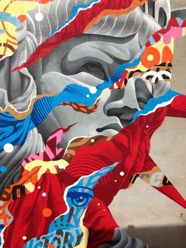 Lady Liberty Wall Graffiti by Tristan Eaton